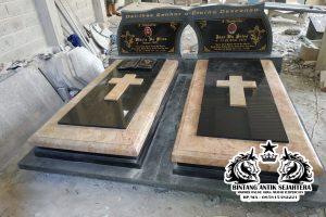 Makam Kembar Kombinasi Marmer dan Granit