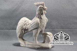 Patung Ayam Jago Bahan Carara