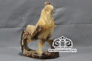 Patung Ayam Jago Bahan Onyx